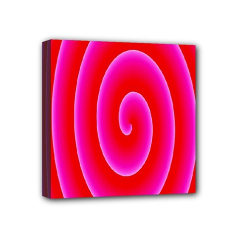 Pink Hypnotic Background Mini Canvas 4  X 4