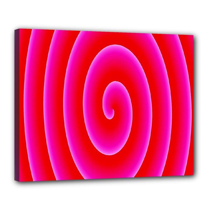 Pink Hypnotic Background Canvas 20  x 16