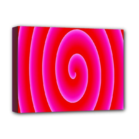 Pink Hypnotic Background Deluxe Canvas 16  x 12