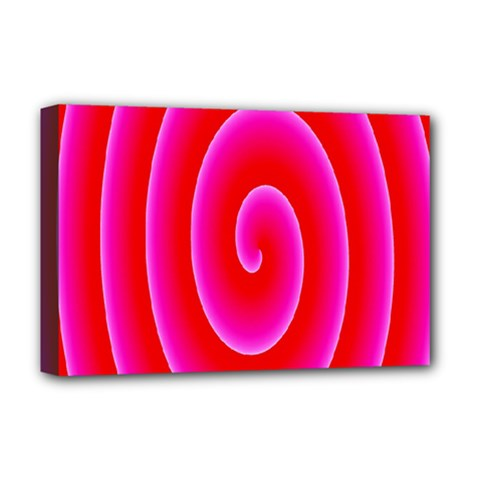Pink Hypnotic Background Deluxe Canvas 18  X 12