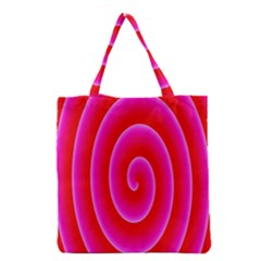 Pink Hypnotic Background Grocery Tote Bag