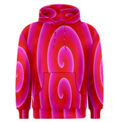 Pink Hypnotic Background Men s Pullover Hoodie