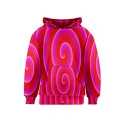 Pink Hypnotic Background Kids  Pullover Hoodie
