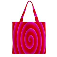 Pink Hypnotic Background Zipper Grocery Tote Bag