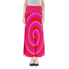 Pink Hypnotic Background Maxi Skirts