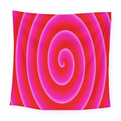 Pink Hypnotic Background Square Tapestry (large)