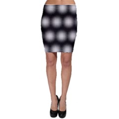 Black And White Modern Wallpaper Bodycon Skirt