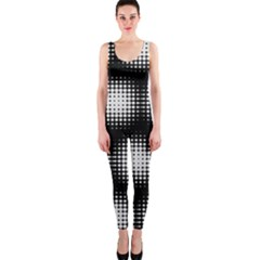Black And White Modern Wallpaper OnePiece Catsuit