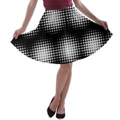 Black And White Modern Wallpaper A Line Skater Skirt
