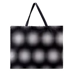 Black And White Modern Wallpaper Zipper Large Tote Bag