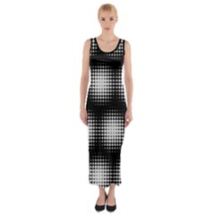 Black And White Modern Wallpaper Fitted Maxi Dress