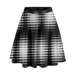 Black And White Modern Wallpaper High Waist Skirt