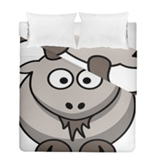 Goat Sheep Animals Baby Head Small Kid Girl Faces Face Duvet Cover Double Side (full/ Double Size)
