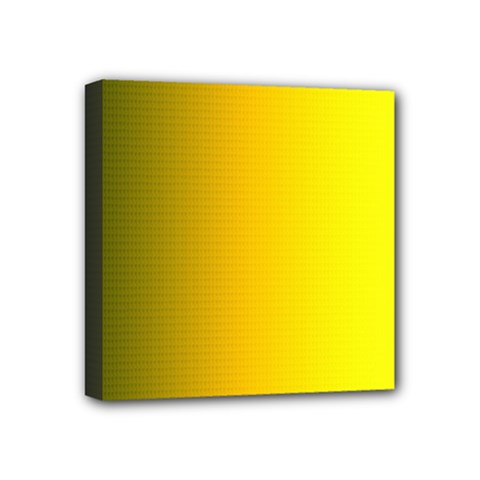 Yellow Gradient Background Mini Canvas 4  X 4