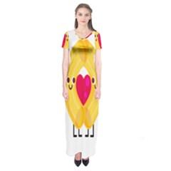 Say Pasta Love Short Sleeve Maxi Dress