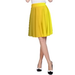 Yellow Gradient Background A-Line Skirt