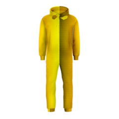 Yellow Gradient Background Hooded Jumpsuit (kids)