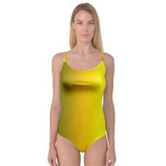 Yellow Gradient Background Camisole Leotard