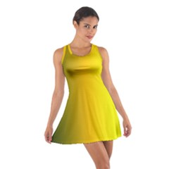 Yellow Gradient Background Cotton Racerback Dress