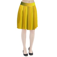 Yellow Gradient Background Pleated Skirt