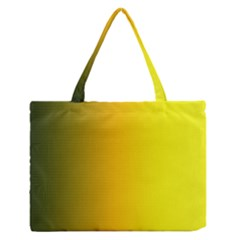 Yellow Gradient Background Medium Zipper Tote Bag