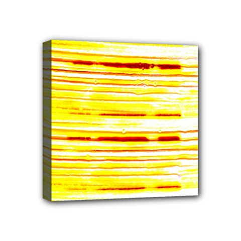 Yellow Curves Background Mini Canvas 4  X 4
