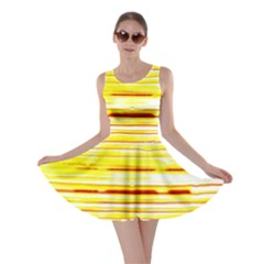 Yellow Curves Background Skater Dress
