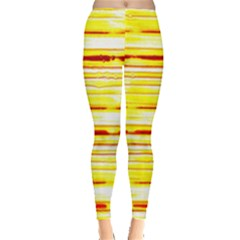 Yellow Curves Background Leggings