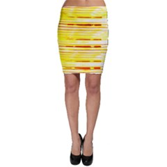 Yellow Curves Background Bodycon Skirt