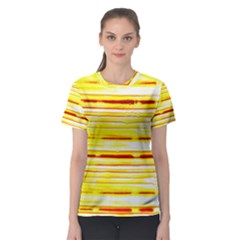 Yellow Curves Background Women s Sport Mesh Tee