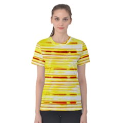Yellow Curves Background Women s Cotton Tee