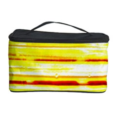 Yellow Curves Background Cosmetic Storage Case