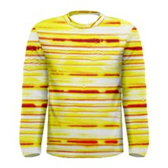 Yellow Curves Background Men s Long Sleeve Tee