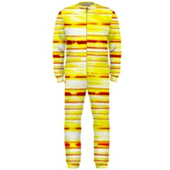 Yellow Curves Background Onepiece Jumpsuit (men)