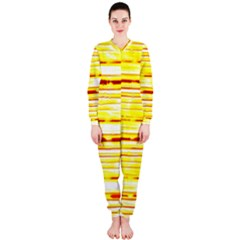Yellow Curves Background OnePiece Jumpsuit (Ladies)