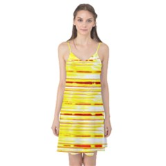 Yellow Curves Background Camis Nightgown