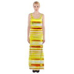 Yellow Curves Background Maxi Thigh Split Dress