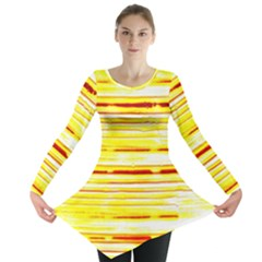 Yellow Curves Background Long Sleeve Tunic