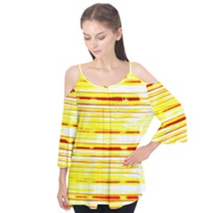 Yellow Curves Background Flutter Tees