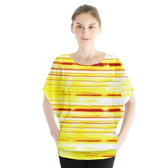Yellow Curves Background Blouse