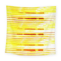 Yellow Curves Background Square Tapestry (large)