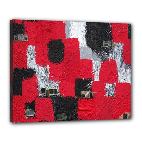 Red Black Gray Background Canvas 20  x 16