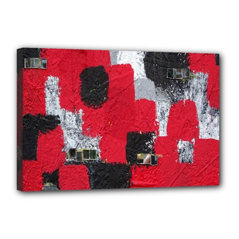 Red Black Gray Background Canvas 18  X 12
