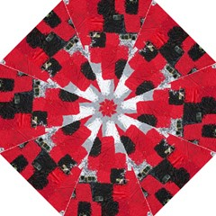 Red Black Gray Background Folding Umbrellas