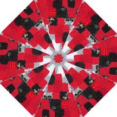 Red Black Gray Background Golf Umbrellas