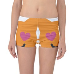 Smile Face Cat Orange Heart Love Emoji Reversible Bikini Bottoms