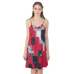 Red Black Gray Background Camis Nightgown