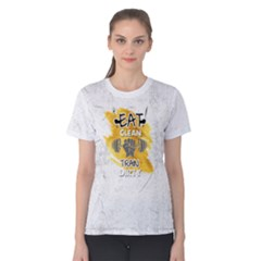 Eat Clean Train Dirty Fitness Women s Cotton Tee