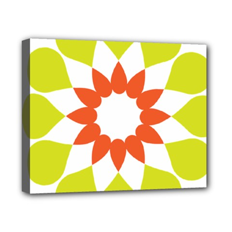 Tikiwiki Abstract Element Flower Star Red Green Canvas 10  x 8