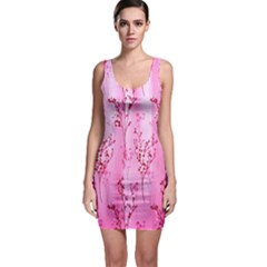 Pink Curtains Background Sleeveless Bodycon Dress